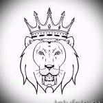 лев с короной тату эскиз - рисунок для татуировки от 15052016 10