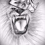 лев с короной тату эскиз - рисунок для татуировки от 15052016 11