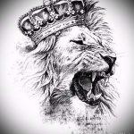 лев с короной тату эскиз - рисунок для татуировки от 15052016 2