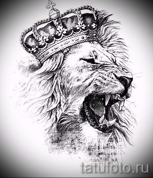 Рисунок льва для тату