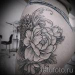 мандала в форме пиона тату - фото пример готовой татуировки от 01052016 1