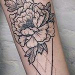 мандала в форме пиона тату - фото пример готовой татуировки от 01052016 3