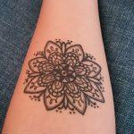 мандала любви тату - фото пример готовой татуировки от 01052016 2