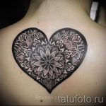 мандала любви тату - фото пример готовой татуировки от 01052016 6