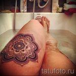 мандала на ноге тату - фото пример готовой татуировки от 01052016 1