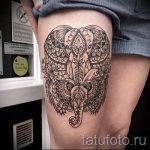 мандала на ноге тату - фото пример готовой татуировки от 01052016 10