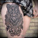 мандала на ноге тату - фото пример готовой татуировки от 01052016 15
