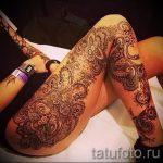 мандала на ноге тату - фото пример готовой татуировки от 01052016 17