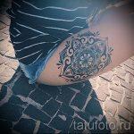 мандала на ноге тату - фото пример готовой татуировки от 01052016 18