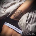 мандала на ноге тату - фото пример готовой татуировки от 01052016 2