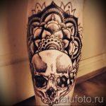 мандала на ноге тату - фото пример готовой татуировки от 01052016 22