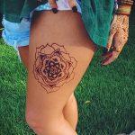мандала на ноге тату - фото пример готовой татуировки от 01052016 23