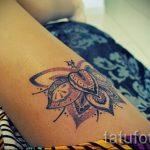 мандала на ноге тату - фото пример готовой татуировки от 01052016 24
