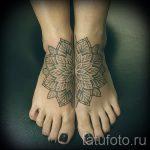 мандала на ноге тату - фото пример готовой татуировки от 01052016 25
