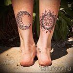 мандала на ноге тату - фото пример готовой татуировки от 01052016 30