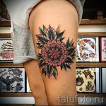 мандала на ноге тату - фото пример готовой татуировки от 01052016 32