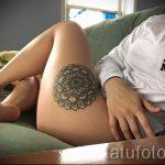 мандала на ноге тату - фото пример готовой татуировки от 01052016 33