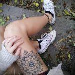 мандала на ноге тату - фото пример готовой татуировки от 01052016 34