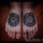 мандала на ноге тату - фото пример готовой татуировки от 01052016 35