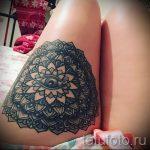 мандала на ноге тату - фото пример готовой татуировки от 01052016 36