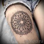 мандала на ноге тату - фото пример готовой татуировки от 01052016 37