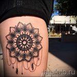 мандала на ноге тату - фото пример готовой татуировки от 01052016 4