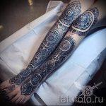 мандала на ноге тату - фото пример готовой татуировки от 01052016 5