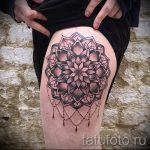 мандала на ноге тату - фото пример готовой татуировки от 01052016 6