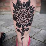 мандала на ноге тату - фото пример готовой татуировки от 01052016 7
