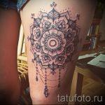 мандала на ноге тату - фото пример готовой татуировки от 01052016 8