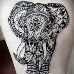 мандала на ноге тату - фото пример готовой татуировки от 01052016 9