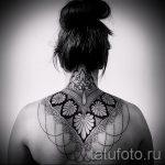 мандала на шее тату - фото пример готовой татуировки от 01052016 30