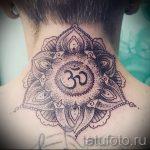 мандала на шее тату - фото пример готовой татуировки от 01052016 35