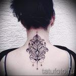 мандала на шее тату - фото пример готовой татуировки от 01052016 7