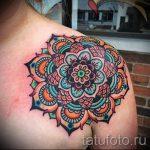 мандала тату цветная - фото пример готовой татуировки от 01052016 1