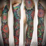 мандала тату цветная - фото пример готовой татуировки от 01052016 10