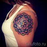 мандала тату цветная - фото пример готовой татуировки от 01052016 13