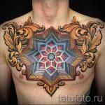 мандала тату цветная - фото пример готовой татуировки от 01052016 14
