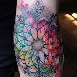мандала тату цветная - фото пример готовой татуировки от 01052016 15