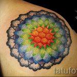 мандала тату цветная - фото пример готовой татуировки от 01052016 16