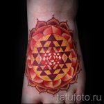 мандала тату цветная - фото пример готовой татуировки от 01052016 19
