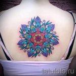 мандала тату цветная - фото пример готовой татуировки от 01052016 2