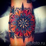 мандала тату цветная - фото пример готовой татуировки от 01052016 21