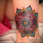 мандала тату цветная - фото пример готовой татуировки от 01052016 23