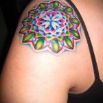 мандала тату цветная - фото пример готовой татуировки от 01052016 24