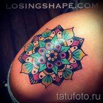 мандала тату цветная - фото пример готовой татуировки от 01052016 25