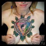 мандала тату цветная - фото пример готовой татуировки от 01052016 26