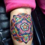 мандала тату цветная - фото пример готовой татуировки от 01052016 3