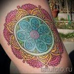 мандала тату цветная - фото пример готовой татуировки от 01052016 5