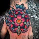 мандала тату цветная - фото пример готовой татуировки от 01052016 6